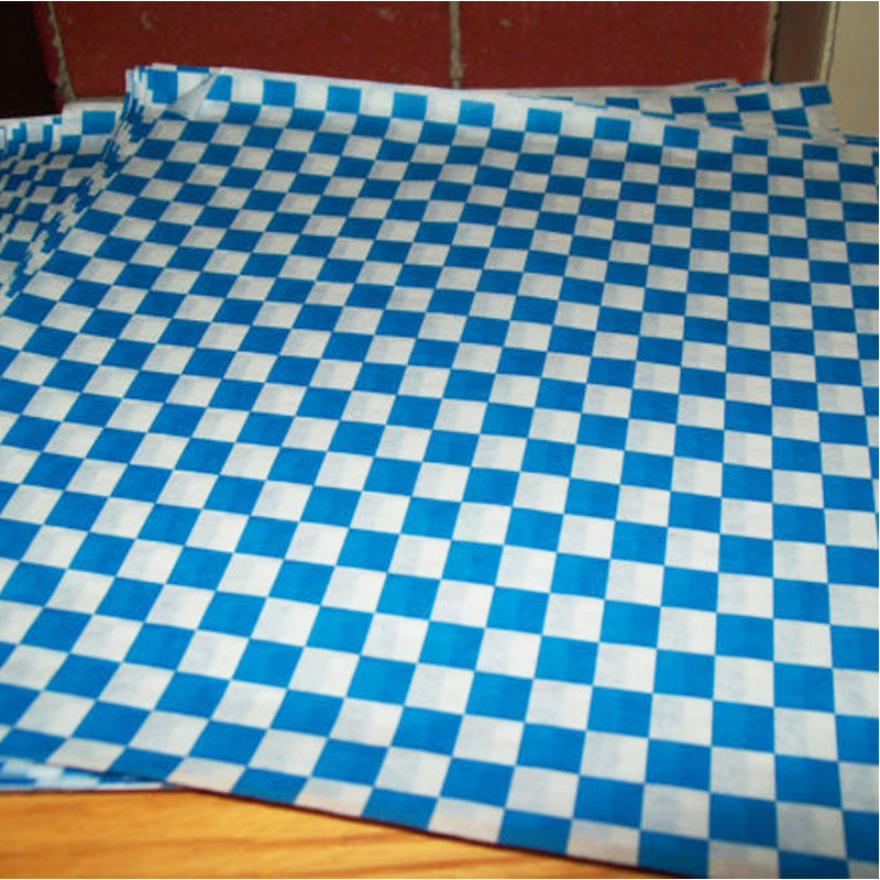 blue coated wax paper
