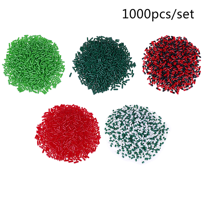 1000pcs Empty Hard Gelatin Capsules 5 Colors Pill Case Empty Pill Holder (Joined Or Seperated Capsules Available!)