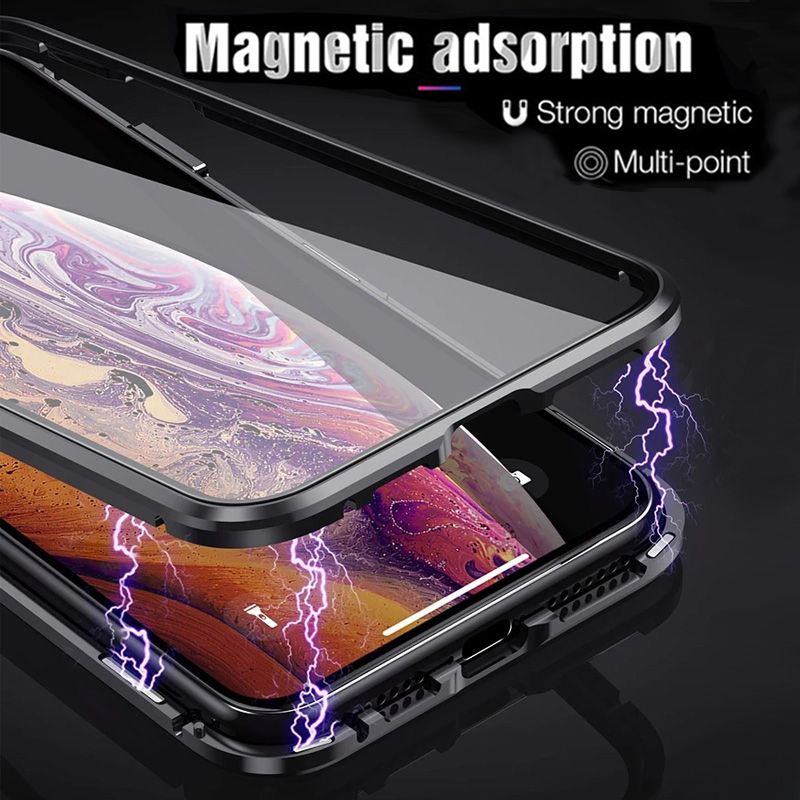 Magnetic-Adsorption-Metal-Phone-Case-For-iPhone-XR-XS-X-XS-Max-6-7-8-Plus