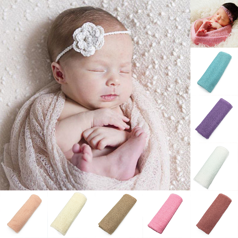 50*160cm newborn photography props wrap accessories photo shoot prop blanket studio baby swaddle soft stretch wraps for new born