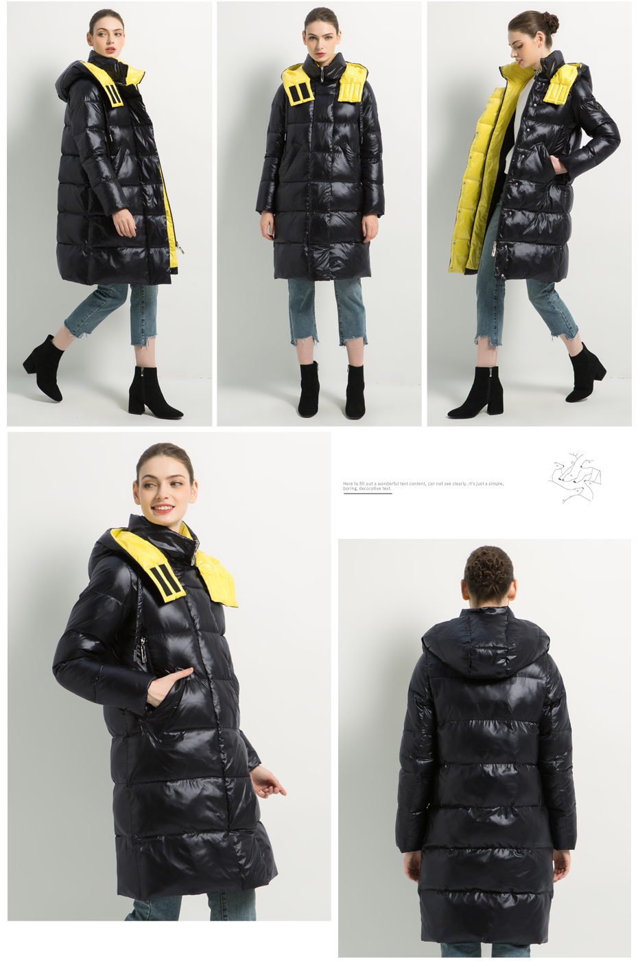 19 New Winter Women Jacket Fashion Woman Cotton High Quality Parker coat