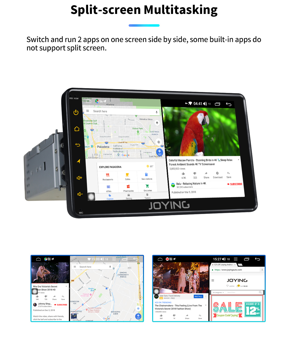 "Sale JOYING 7"" Android 8.1 1 din Car Radio 2GB+32GB Octa Core GPS DSP universal head unit stereo autoradio SWC Fast Boot Mirror link 10"