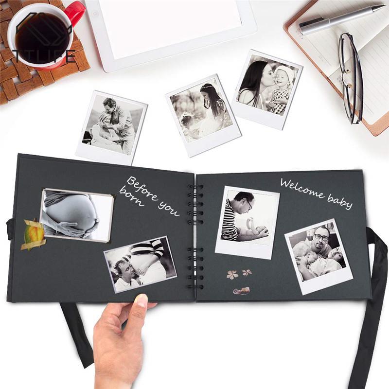 Pegatinas para Regalo de Cumplea/ños para Ni/ños Nabance /álbum de Bricolaje Papel Artesanal Libros de Memoria con Marcadores Bol/ígrafos /Álbum de Fotos de /álbum de Recortes de 80 P/áginas Negras