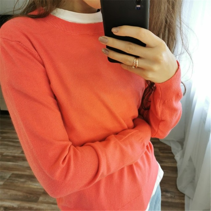 GCAROL 19 Fall Winter Candy Knit Jumper Women 30% Wool Sweater Soft Stretch OL Render Knit Pullover Knitwear S-3XL 15