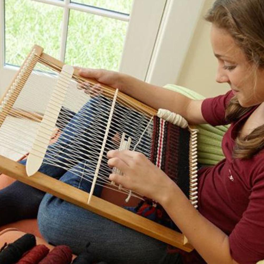 Appendenti Da Parete Ornamenti Arazzo Tessitura Sottobicchiere MOVKZACV Loom Knitting Rotondo in Legno Handmade Tessitura Macchine Utensili Tessitura Telaio Fai Da Te Knitting Coaster