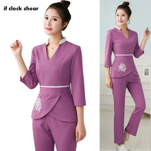 Spa Uniforms Clothing Scrubs Workwear Beauty Salon Wholesale Women Tattoo 2pcs-Set