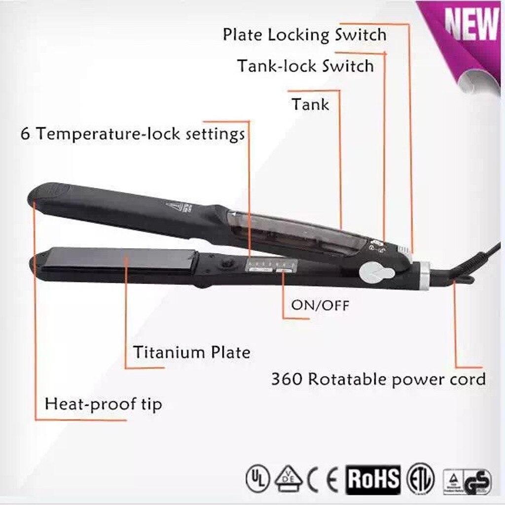 New Ceramic Hair Iron Styler Hair Styling Tool Professional Steam Hair Straightener Steam Thermo Straightening Hair Tools