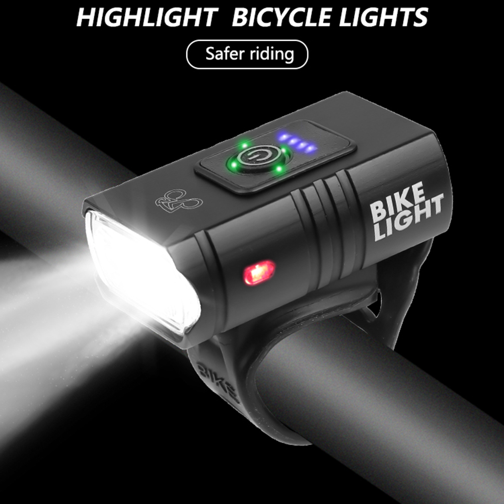 Flashlight - T6 LED Bicycle Light 10W 6 Modes USB Rechargeable Power Display MTB Mountain Road Bike Front Lamp Cycling Equipment Flashlight