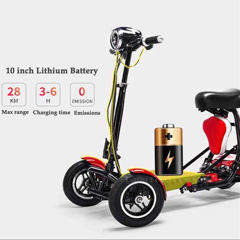 Daibot Electric Elderly Scooter 4 Wheels Electric Scooters 10 Inch 500W Foldable Electric Scooter For Disabled BlueBlackRed (41)