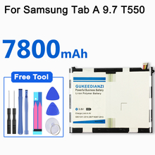 Replacement-Battery Power-Bank 7800mah Samsung P550 Galaxy GUKEEDIANZI for Tab EB-BT550ABE