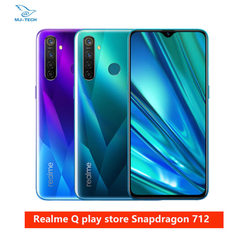 Realme Snapdragon 710 Cellphone OPPO VOOC 20W 64gb 6gb LTE Octa Core Fingerprint Recognition title=