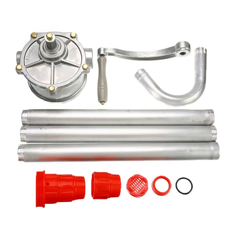 55 Gal Drum Rotary Manual Hand Barrel Heavy Duty Pump Diesel Fuel Oil Gas Tool