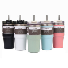 Double-Wall Tumbler Stainless-Steel Vacuum Insulated Travel Coffee 20oz/30oz with Straw-Keep-Cold