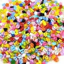 PKR 136  20%OFF | 100pcs Colorful Mixed 2 Hole Resin Cute Supper Mini Buttons Sewing Round Decor Card Making DIY Lovely Home Decor Tools