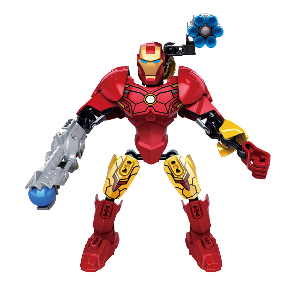 Single Big Size KSZ517-1 Marvel Series Marvels Toy For Children Red iron man Super Heroes Avengers Legoing Building Blocks Gifts