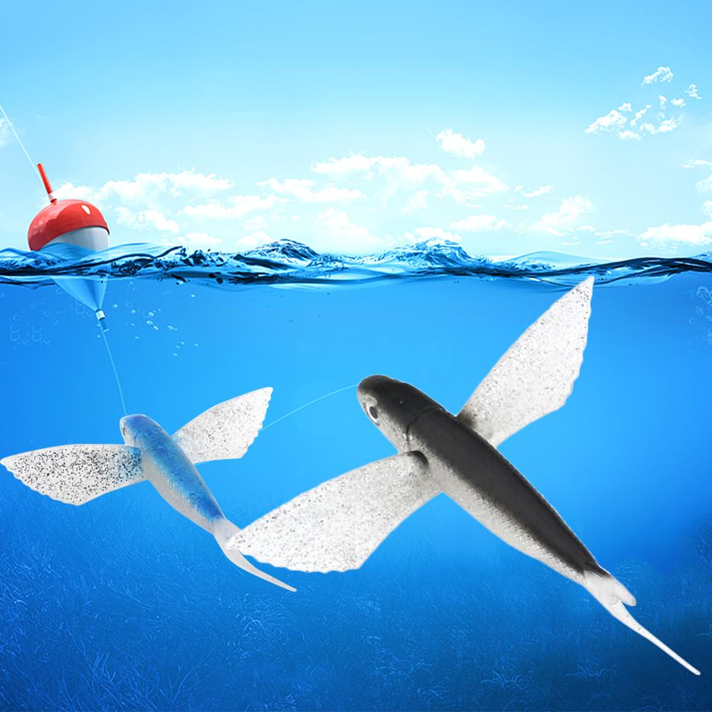 1PCS Bionic Flying Fish Saltwater Fishing Lure For Kingfish Tuna Mackerel Marlin