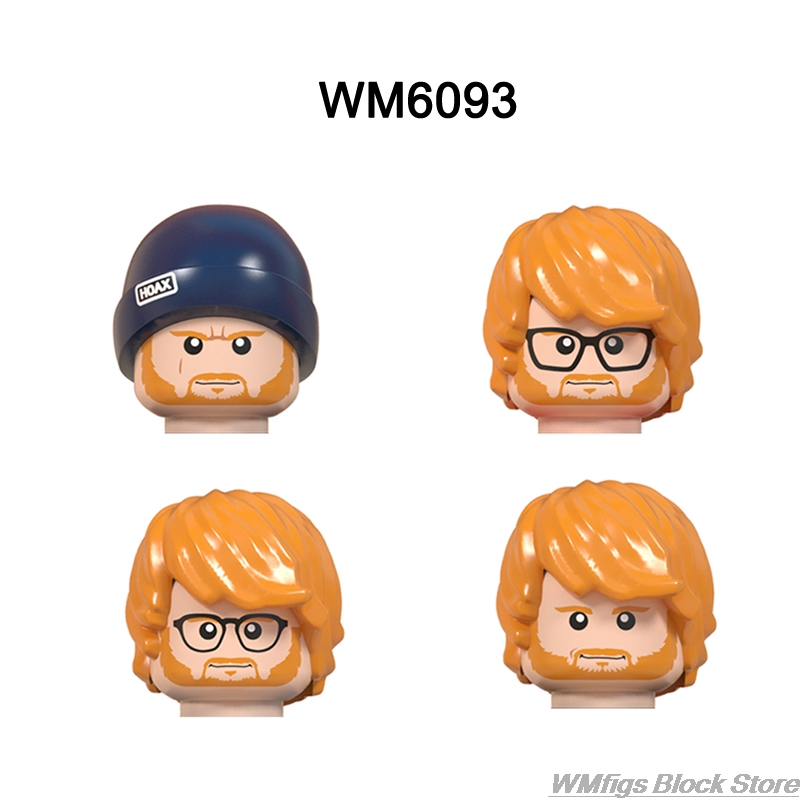 Celebrity Serie Character Singer Cowboy Michael Godfather Building Block Toy Doctor Who Marilyn DJ Figure Head Fitting Children