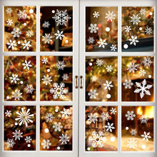 36pcs/lot White Snowflake Christmas Wall Stickers Glass Window Sticker Christmas Decorations