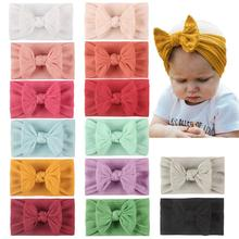 14PCS Baby Soft Nylon Headbands Hair Bows Elastics Hairbands Wide Knotted Headband Hair Accessories for Newborns Infants Toddler