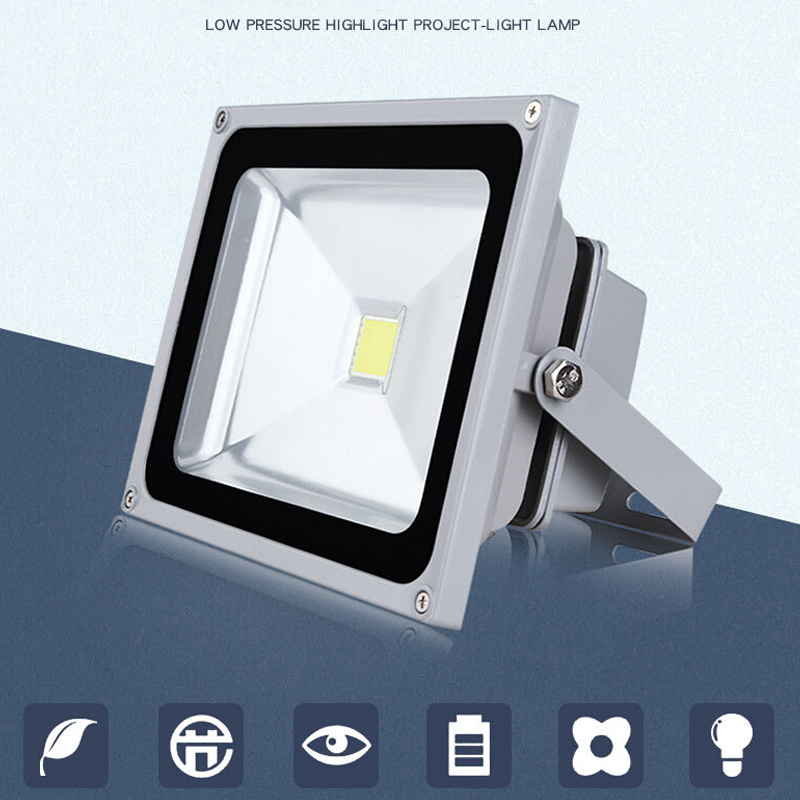 200W LED Floodlights Slim SMD Outdoor Garden Landscape Light Cool White 220V UK