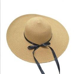 Летняя соломенная шляпа с широкими полями