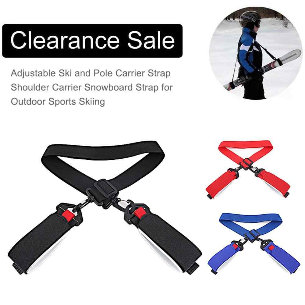 Skid Carrier Strap Nylon Ski Snowboard Shoulder Straps Adjustable Snowboarding Accessory