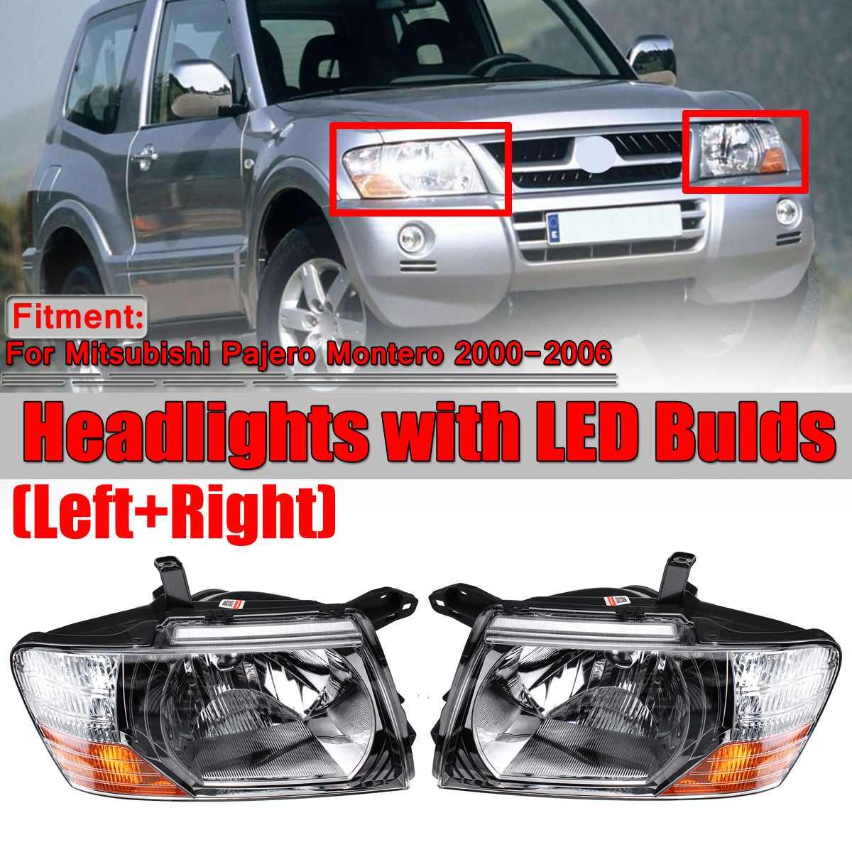 Front Head lamp  For Mitsubishi Pajero Montero 2000-2006 Headlights Assembly Set
