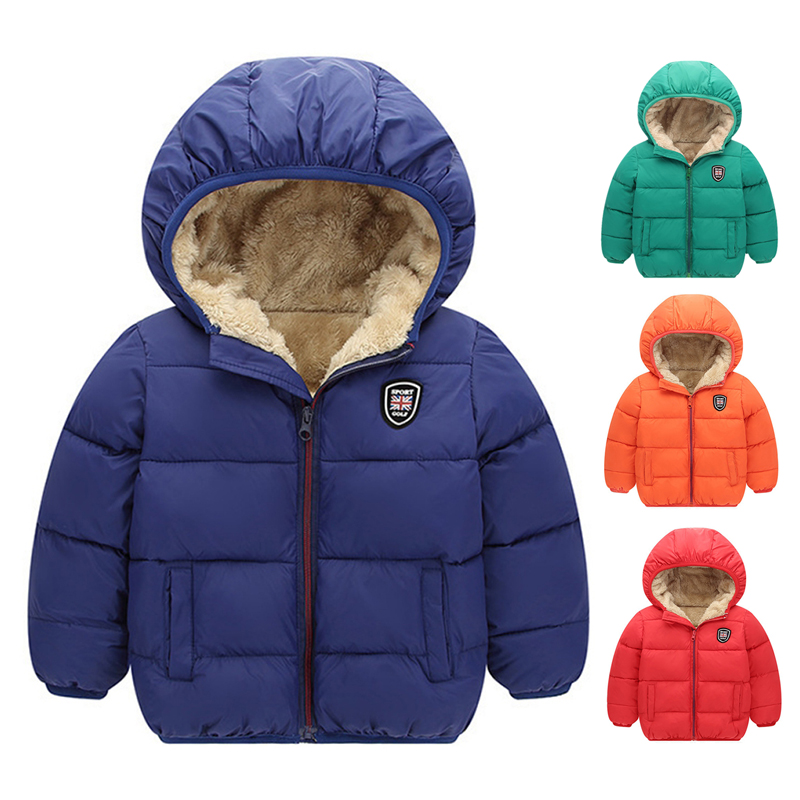 Baby Girls Coat Down Jacket Thick Fur Hooded Cotton Parka Princess Winter Jacket