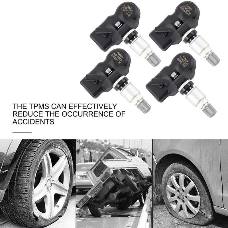 WonVon 4 PCS Tire Pressure Monitor Sensor TPMS For BMW 5 6 7 X1 X3 X4 Z4 MINI ROOLS ROYCE 36106798872 36106874830 36106890964