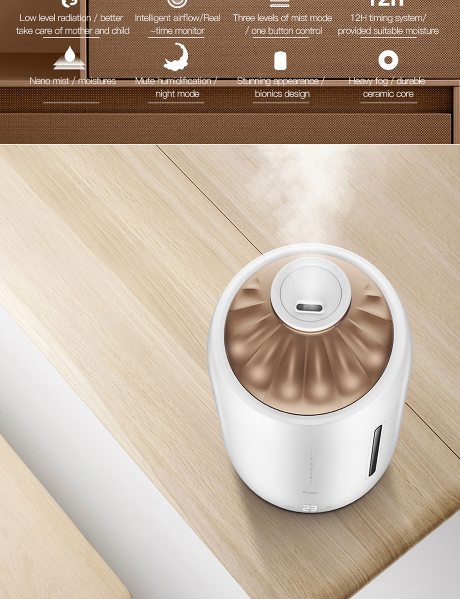 Xiaomi Mijia deerma 5L Air Home Ultrasonic Humidifier Touch Version Air Purifying for Air-conditioned rooms Office household D5 (18)