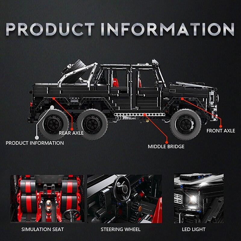 1:8 Technic SUV 6x6 MERCEDES LAND CRUISER Lego compatibile Building Off-Roa 3309