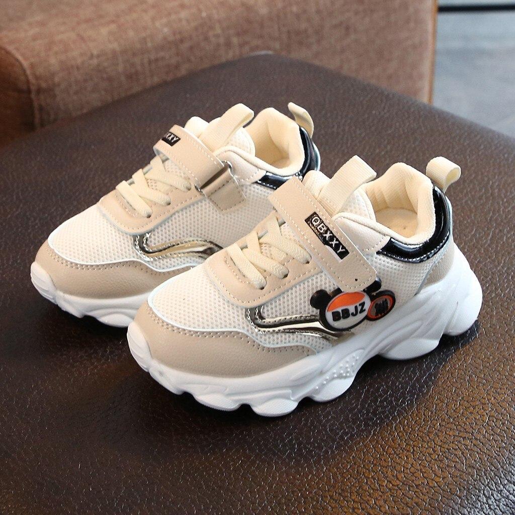 Fashion Kids Children Baby Girls Boys Mesh Petchwork Running Sport Sneaker Shoes