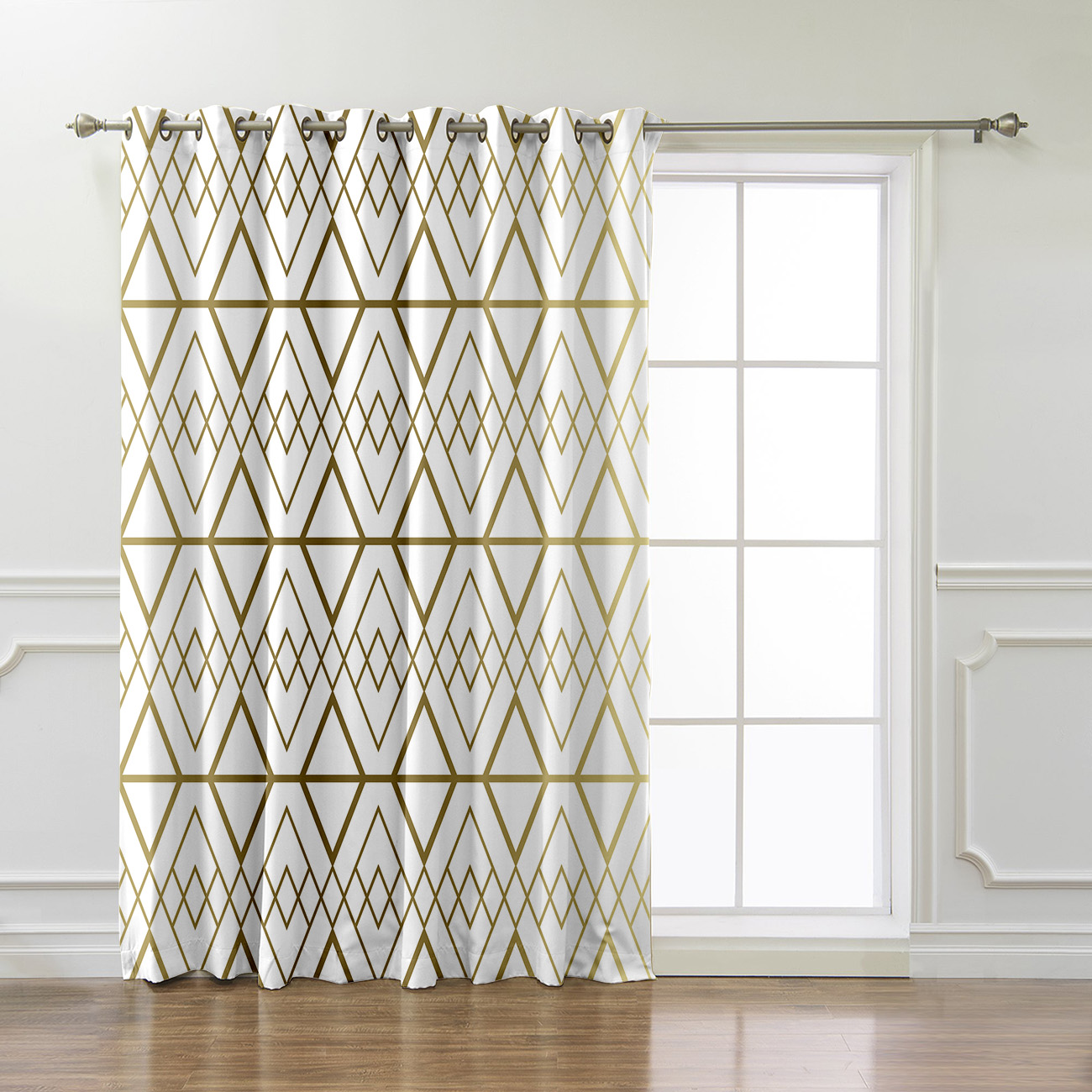 Modern Geometry Window Treatments Curtains Valance Curtain Lights Outdoor Bedroom Indoor Drapes Swag Kids Window Treatment