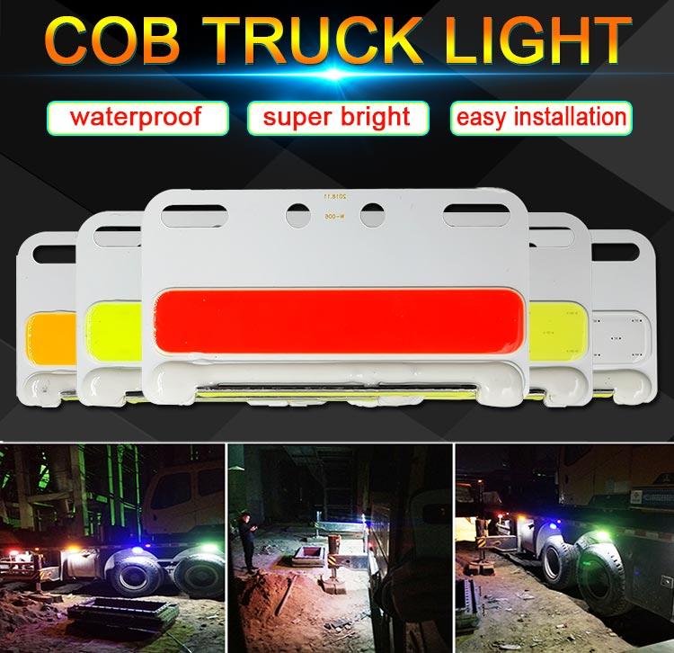 color rojo blanco y naranja Juego de 4 luces de posici/ón laterales LED 12 V//24 V para camiones y camiones barcos