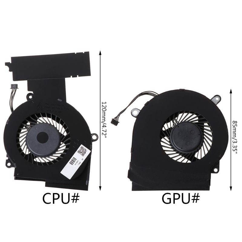 Power4Laptops Replacement Laptop CPU Fan for HP Omen 15-dc0046nb HP Omen 15-dc0046TX HP Omen 15-dc0046ur HP Omen 15-dc0047ur HP Omen 15-dc0047TX