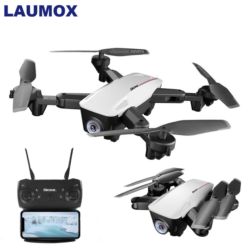 LAUMOX Rc-Drone Helicopter Camera Follow Me Optical-Flow Positioning Foldable WIFI 4K/1080P title=