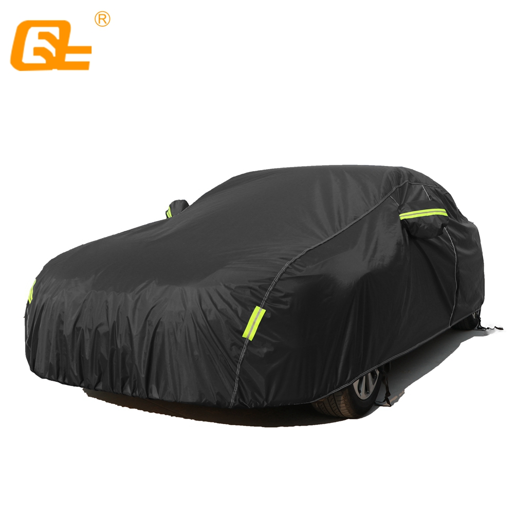 210T Universal Car Covers Indoor Outdoor Full Auot Cover Sun UV Snow Dust Resistant Protection Cover fit suv sedan hatchback title=