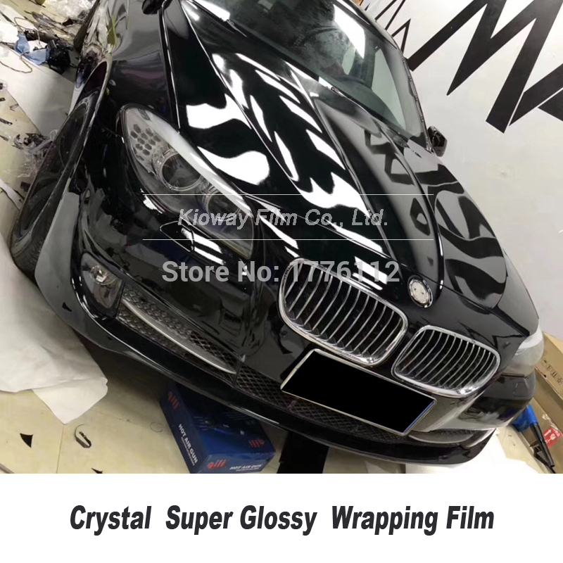 super Gloss Black Vinyl Wrap Film With Air Bubble Free Shiny Black Glossy Vinyl Car Wrap Piano Black Wrap Brightest Raw Material title=