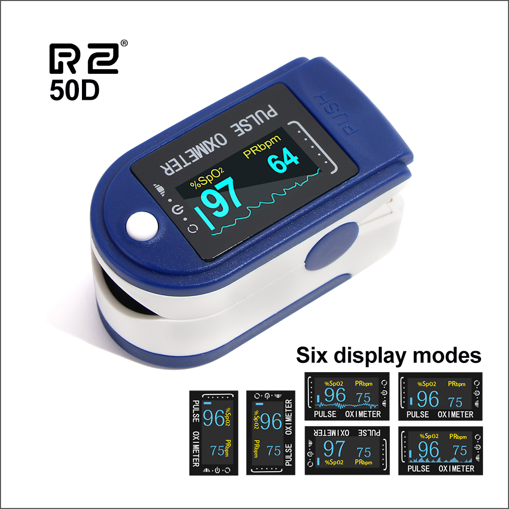 RZ Portable Finger Oximeter Fingertip PulseOximeter Medical Equipment With OLED Display Heart Rate Spo2 PR Pulse Oximeters