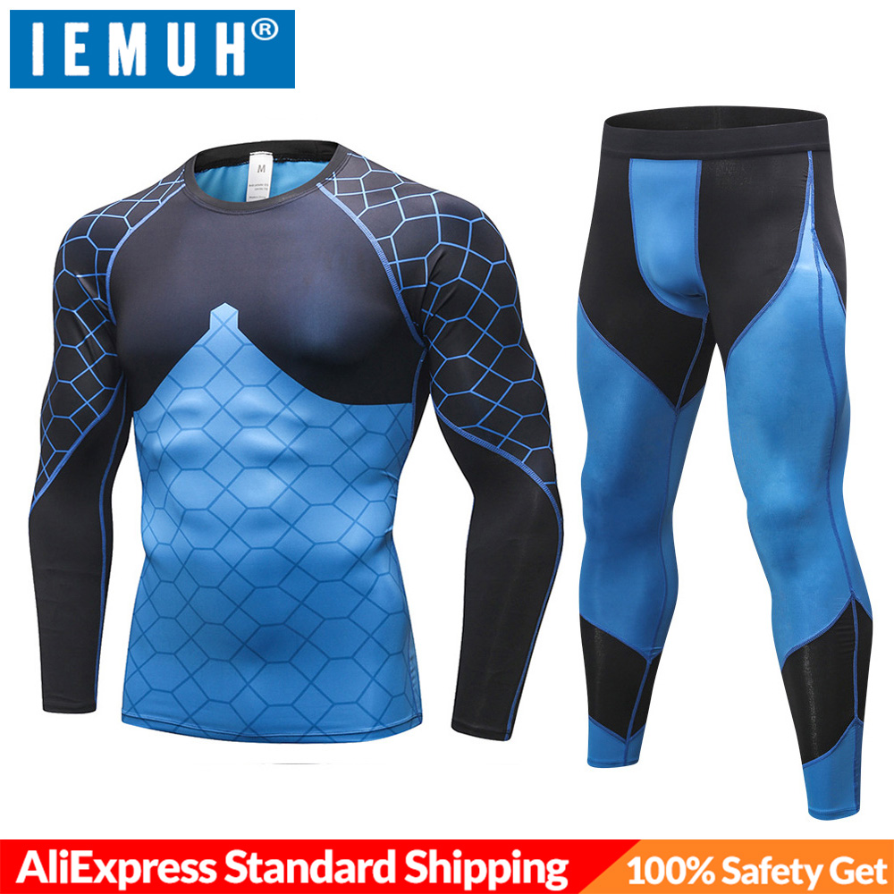 IEMUH Underwear Long-Johns Fitness Men Winter New Warm Male Stretch Quick-Dry Anti-Microbial title=