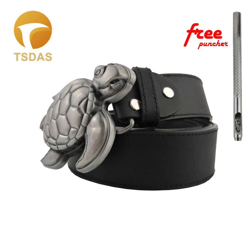 1.57 Wide Genuine Leather Designer Snake Buckle Belt Western Belts Men Women