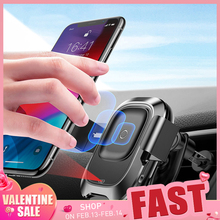 Baseus Car-Phone-Holder Stand Air-Vent-Mount iPhone Wireless-Charger Infrared Samsung