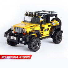 Technics Chrysler jeeps Wrangler moc building block dream car assembly model driver figures bricks обучающая игрушка для мальчика подарки(China)