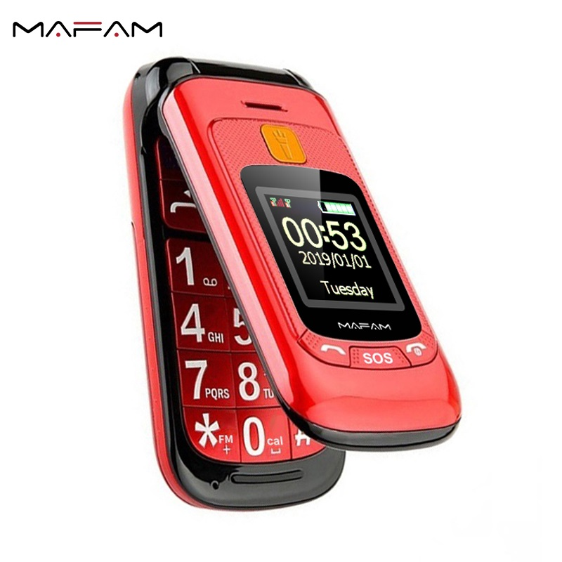Mafam Mt6573 GSM Fm Radio New Mobile-Phone-Sos Touch-Screen Flip Loud-Sound Old-People title=