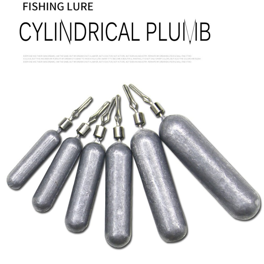 Fishing Lead Sinker Drop-Shot Cylindrical-Shape-Accessories Solid Pour 7g 5g 5pcs/Set title=