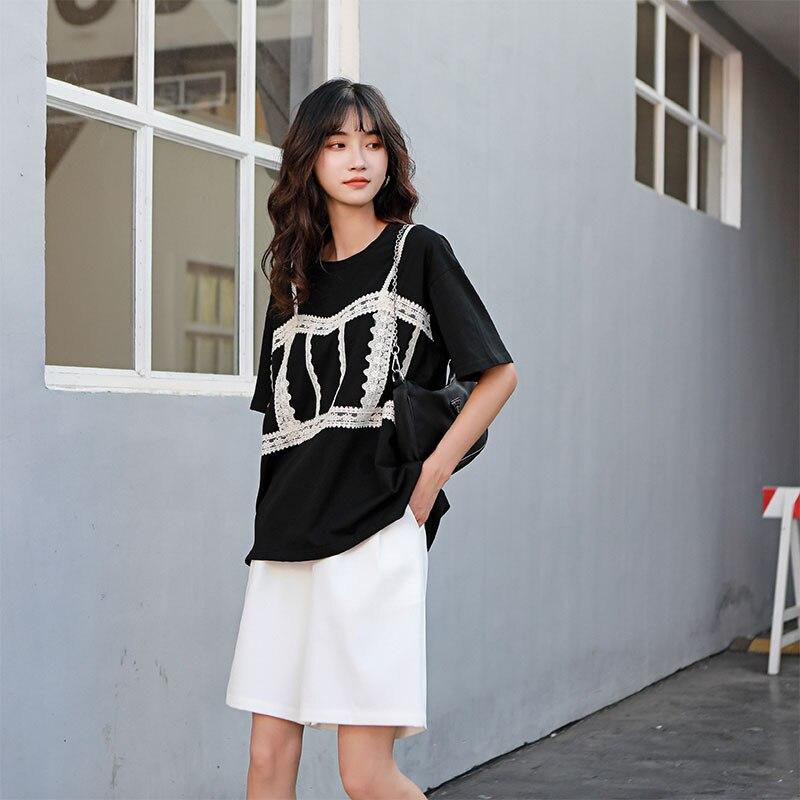 H0e68e580d09b4ce3b3808f2a53c42ae14 - Summer Korean High Waist Loose White Shorts