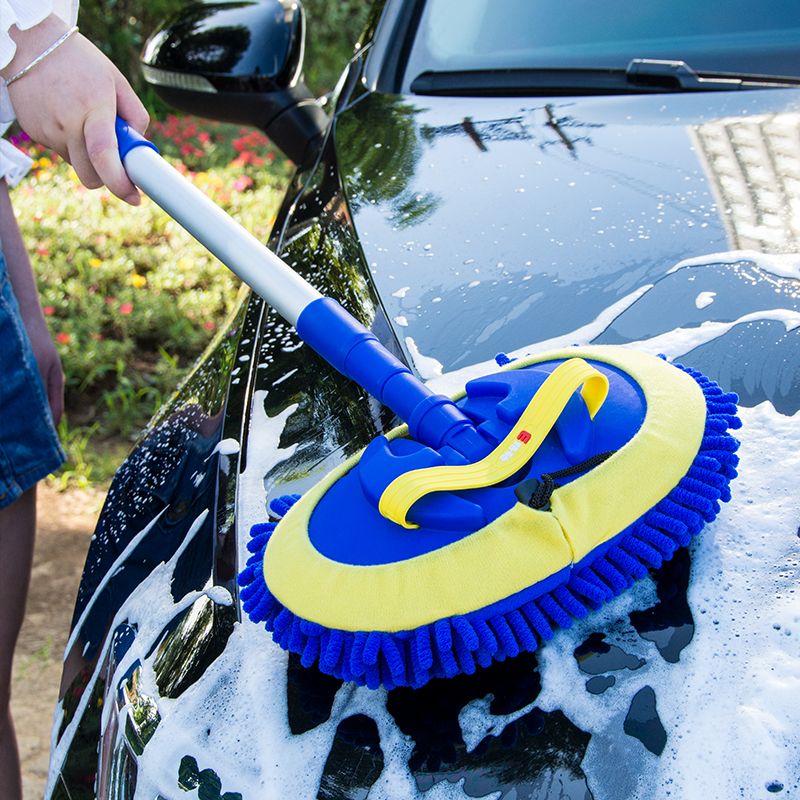 Car Wash Brush Cleaning Mop products Broom Adjustable Telescoping Long Handle Car Cleaning Tools Rotatable Brush Car Accessories title=
