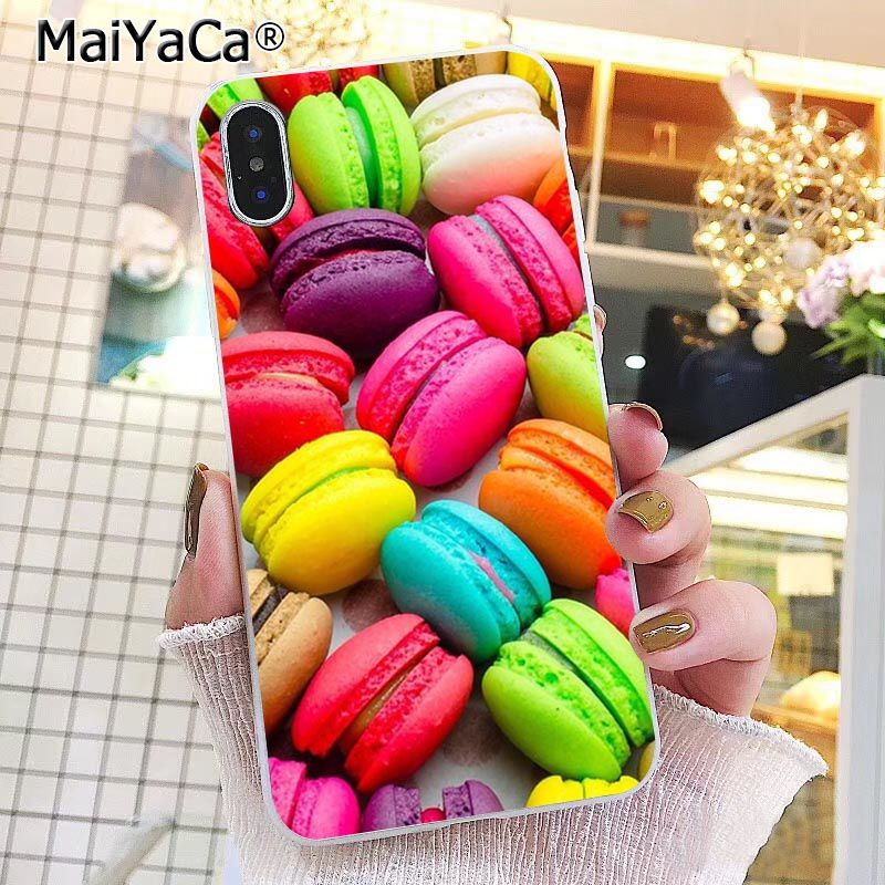 Colorful Yellow Pink Macarons donut