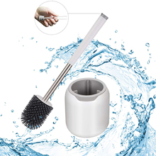Toilet-Brush Tweezers Rubber-Head-Holder Cleaning-Tool Floor Bathroom Household TPR