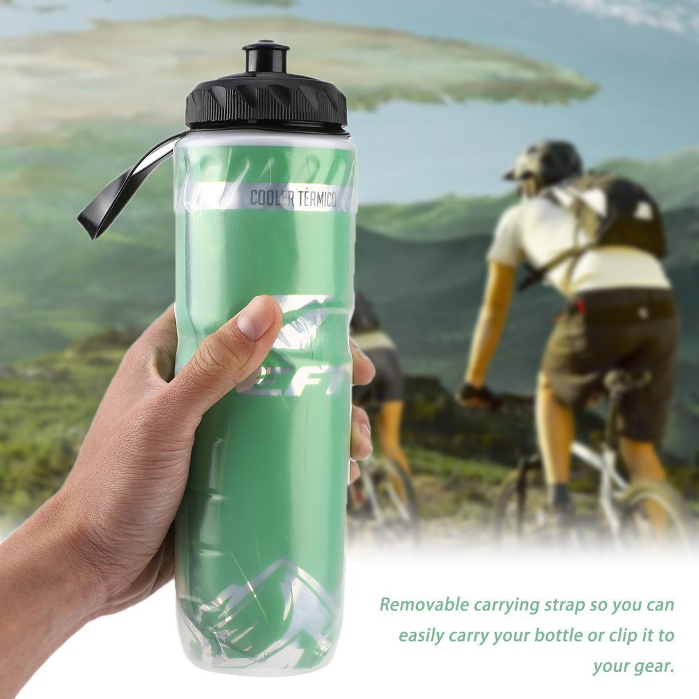 Recyclable-Bottle Water-Kettle Cycling 710ml Sport Bike Insulated Outdoor 24oz title=